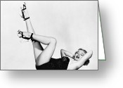 High Heel Greeting Cards - Marilyn Monroe (1926-1962) Greeting Card by Granger