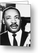 Civil Rights Greeting Cards - Martin Luther King, Jr Greeting Card by Granger