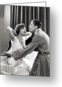 Artcom Greeting Cards - Silent Film Still: Couples Greeting Card by Granger