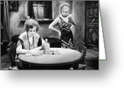Intoxicated Greeting Cards - Silent Film Still: Drinking Greeting Card by Granger