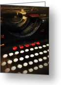 Typewriter Greeting Cards - 12 To 12 Greeting Card by Olivier Calas