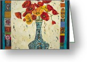 Flower Still Life Prints Painting Greeting Cards - Untitled Greeting Card by Mahtab Alizadeh