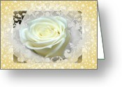 Twinkle Greeting Cards - Wedding Rose Collection  Greeting Card by Debra     Vatalaro