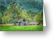 Ozarks Greeting Cards - 1209-1298 - Boxley Valley Barn 2 Greeting Card by Randy Forrester