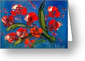 Flower Photography Painting Greeting Cards - Flowers Greeting Card by Mark Kazav