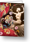 Vector Mixed Media Greeting Cards - Goddess Greeting Card by Chris Andruskiewicz