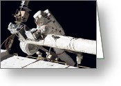 Tying Greeting Cards - Astronaut Participates Greeting Card by Stocktrek Images
