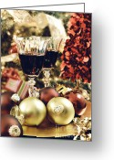 Still Life Greeting Card Greeting Cards - Christmas Greeting Card by HD Connelly