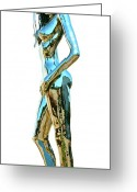 Nudes Sculpture Greeting Cards - Evolution of Eve IV Greeting Card by Greg Coffelt