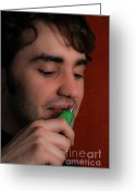 Sniff Greeting Cards - Inhalant Greeting Card by Photo Researchers, Inc.