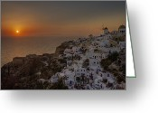 Roof Greeting Cards - Oia - Santorini Greeting Card by Joana Kruse