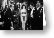 Tuxedo Greeting Cards - Silent Film Still: Parties Greeting Card by Granger