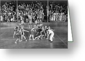 Referee Greeting Cards - Silent Film Still: Sports Greeting Card by Granger