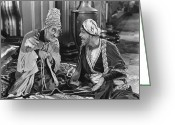 Turban Greeting Cards - Silent Still: Two Men Greeting Card by Granger