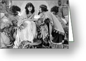 Movie Star Greeting Cards - Theda Bara (1885-1955) Greeting Card by Granger