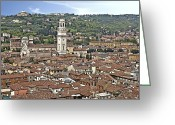 Sanctuary Greeting Cards - Verona Greeting Card by Joana Kruse