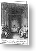 Signing Greeting Cards - Declaration Of Independence Greeting Card by Granger