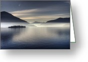 Misty Greeting Cards - Lake Maggiore Greeting Card by Joana Kruse