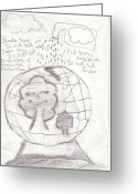Our Planet Greeting Cards - 14 Greeting Card by Maitri Shah