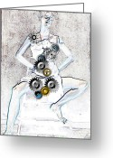 Top Model Greeting Cards - Nude Greeting Card by Bogdan Floridana Oana