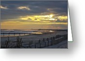 Kevin Sherf Greeting Cards - 14th Street Fishing Pier Bright Greeting Card by Kevin  Sherf