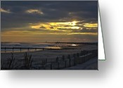 Kevin Sherf Greeting Cards - 14th Street Fishing pier Greeting Card by Kevin  Sherf