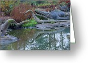 Dinosaurs Photo Greeting Cards - Dinosaur Greeting Card by Dawn OConnor
