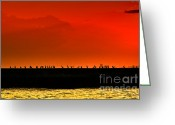 Tonight Greeting Cards - Sunset Greeting Card by Nilay Tailor