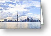 Harborfront Greeting Cards - Toronto skyline Greeting Card by Elena Elisseeva