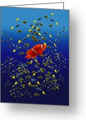 Clown Fish Greeting Cards - 153 Greeting Card by Peter Holme III