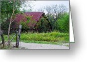 Old Country Roads Greeting Cards - 1566 Barn Greeting Card by Lisa Moore