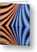 Screen Doors Greeting Cards -  Fractal reflection Greeting Card by Odon Czintos