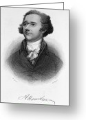 Autograph Greeting Cards - Alexander Hamilton Greeting Card by Granger