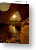 Mojave Greeting Cards - Amazing Bridge Mountain Greeting Card by Scott Warner