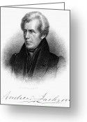 Autograph Greeting Cards - Andrew Jackson (1767-1845) Greeting Card by Granger