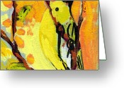 Sparrow Greeting Cards - 16 Birds No 1 Greeting Card by Jennifer Lommers