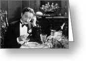 Tuxedo Greeting Cards - Film Still: Telephones Greeting Card by Granger