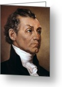 Cravat Greeting Cards - James Monroe (1758-1831) Greeting Card by Granger