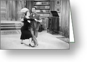 Twenties Greeting Cards - Silent Film Still: Dancing Greeting Card by Granger