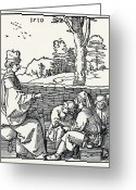 Art Education Greeting Cards - 16th-century School Lesson Greeting Card by Sheila Terry