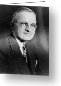 Democrat Party Greeting Cards - Harry S. Truman (1884-1972) Greeting Card by Granger