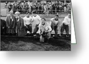 Sports Greeting Cards - Silent Film Still: Sports Greeting Card by Granger