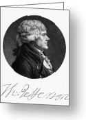 Balthasar Greeting Cards - Thomas Jefferson (1743-1826) Greeting Card by Granger