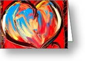 Leaned Greeting Cards Greeting Cards - Heart Greeting Card by Mark Kazav