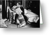 Lover Greeting Cards - Silent Film Still: Couples Greeting Card by Granger