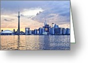 Highrises Greeting Cards - Toronto skyline Greeting Card by Elena Elisseeva