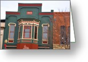 Store Fronts Greeting Cards - 1885 Greeting Card by Jan Amiss Photography
