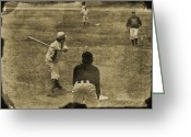 Baseball Game Greeting Cards - 1890s Baseball Greeting Card by John Haldane