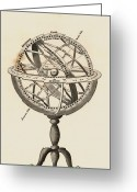 Armillary Greeting Cards - 18th Century Armillary Sphere Greeting Card by Detlev Van Ravenswaay