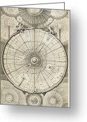 Diagrams Greeting Cards - 18th Century Astronomical Diagrams Greeting Card by Library Of Congress